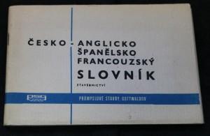náhled knihy - Česko-anglicko-španělsko-francouzský slovník stavebnictví