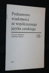 náhled knihy - Podstawowe wiadomosci ze wspolczesnego jezyka czeskiego II