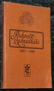 náhled knihy - Rukověť zahrádkáře 1987-1988