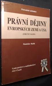 náhled knihy - Právní dějiny evropských zemí a USA : (stručný nástin)