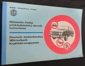 náhled knihy - Německo-český překladatelský slovník motorismu
