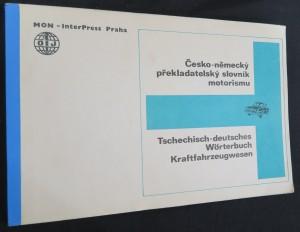 náhled knihy - Česko-německý překladatelský slovník motorismu