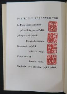 antikvární kniha Pavilon u zelených vod, neuveden