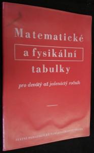 náhled knihy - Matematické a fysikální tabulky pro devátý až jedenáctý ročník všeobecně vzdělávacích škol