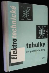 náhled knihy - Elektrotechnické tabulky pro průmyslové školy : pomocná kn.