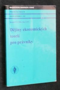 náhled knihy - Dějiny ekonomických teorií pro právníky