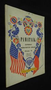 náhled knihy - Památník ústředny moravských spolků (Chigago, III. 1945)