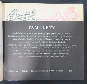 antikvární kniha Pamflety, 1961