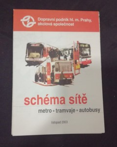 náhled knihy - Schéma sítě - metro, tramvaje, autobusy