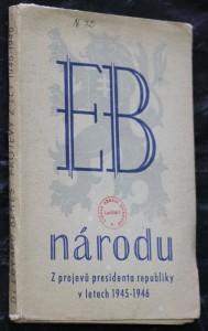 náhled knihy - Z projevů presidenta republiky v letech 1945-1946