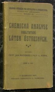 náhled knihy - Chemická analyse kvalitativní látek ústrojných