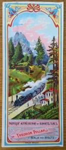náhled knihy - Fezovka s motivem vyskohorského nádraží a vlaku, Theodor Pollak, Biala