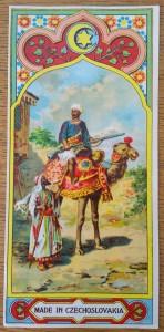 náhled knihy - Fezovka s motivem ozbrojeného jezdce na velbloudu
