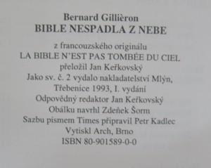 antikvární kniha Bible nespadla z nebe : strhující historie jejího zrození, 1993