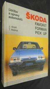 náhled knihy - Údržba a opravy automobilů Škoda Favorit, Forman, Pick up
