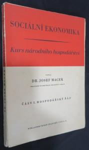 náhled knihy - Sociální ekonomika : kurs národního hospodářství