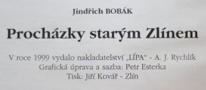 antikvární kniha Procházky starým Zlínem, 1999