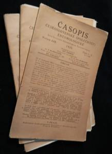 náhled knihy - Časopis československé společnosti entomologické, Ročník XXII. Číslo 1. - 6., 3 sešity