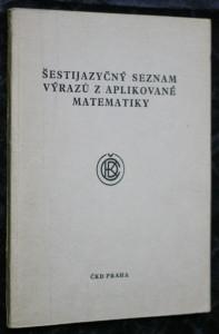náhled knihy - Šestijazyčný seznam výrazů z aplikované matematiky