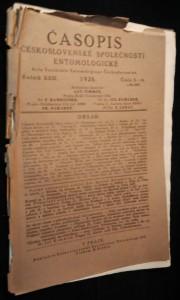 náhled knihy - Časopis československé společnosti entomologické, Ročník XXIII. Číslo 5. - 6.