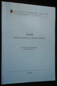 náhled knihy - Daně : studijní pomůcka pro distanční studium