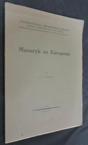 náhled knihy - Masaryk as European