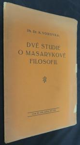 náhled knihy - Dvě studie o Masarykově filosofii
