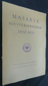 náhled knihy - Masaryk als Volkserzieher 1850-1935