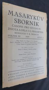 náhled knihy - Masarykův sborník: svazek 3, ročník 1929