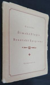 náhled knihy - Římské elegie ; Benátské epigramy výtisk číslo 198