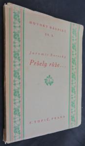 náhled knihy - Pršely růže ... : kniha sonetů 1886-1920