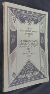 náhled knihy - O milkování, lásce a zradě : Povídky a črty. Díl 1