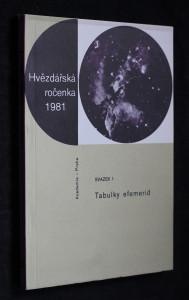 náhled knihy - Hvězdářská ročenka 1981, svazek 1: Tabulky efemerid