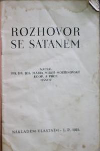 antikvární kniha Rozhovor se satanem, 1931