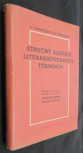 náhled knihy - Stručný slovník literárnovedných termínov
