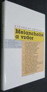 náhled knihy - Melancholie a vzdor : eseje o moderní české literatuře