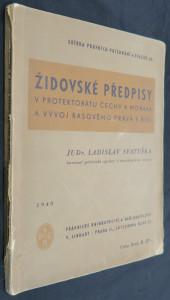 náhled knihy - Židovské předpisy v Protektorátu Čechy a Morava a vývoj rasového práva v Říši
