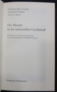 antikvární kniha Der Mensch in der industriellen Gesellschaft, 1966