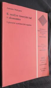 náhled knihy - K analýze časových řad v ekonomice ročník 83, sešit 3 : Uplatnění systémových aspektů