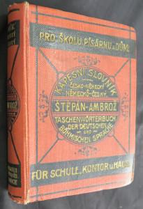 náhled knihy - Nový kapesní slovník německo-český a česko-německý I. díl