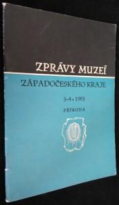 náhled knihy - Zprávy muzeí Západočeského kraje, č. 3-4