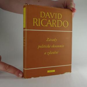 náhled knihy - Zásady politické ekonomie a zdanění
