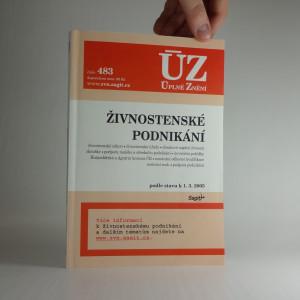 náhled knihy - Živnostenské podnikání, podle stavu k 1. 3. 2005