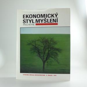 náhled knihy - Ekonomický styl myšlení