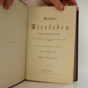 antikvární kniha Brehms Tierleben (10 svazků), 1890-1893