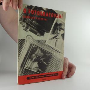 náhled knihy - O fotografování