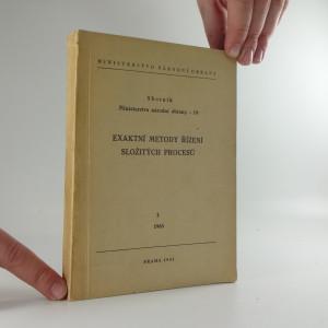 náhled knihy - Exaktní metody řízení složitých procesů. III.