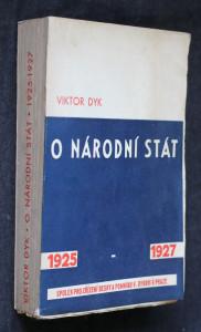 náhled knihy - O národní stát 1925 - 1927