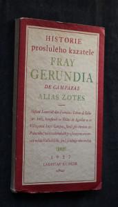 náhled knihy - Historie proslulého kazatele Fray Gerundia de Campazas alias Zotes