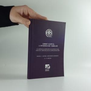 náhled knihy - Lidský kapitál a investice do vzdělání. Sborník z 5. ročníku mezinárodní konference
